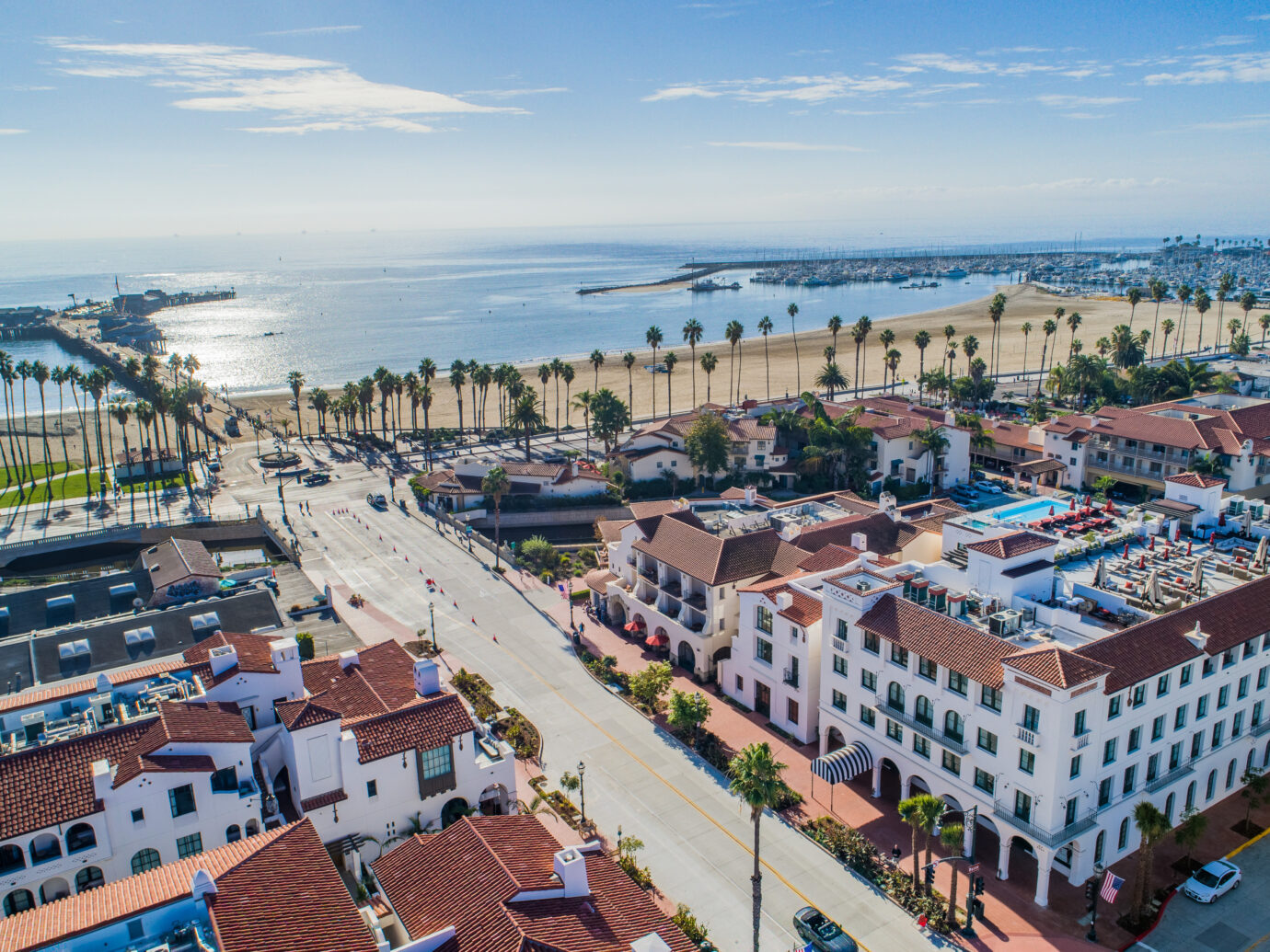Aerial view of Hotel Californian, Santa Barbara, CA