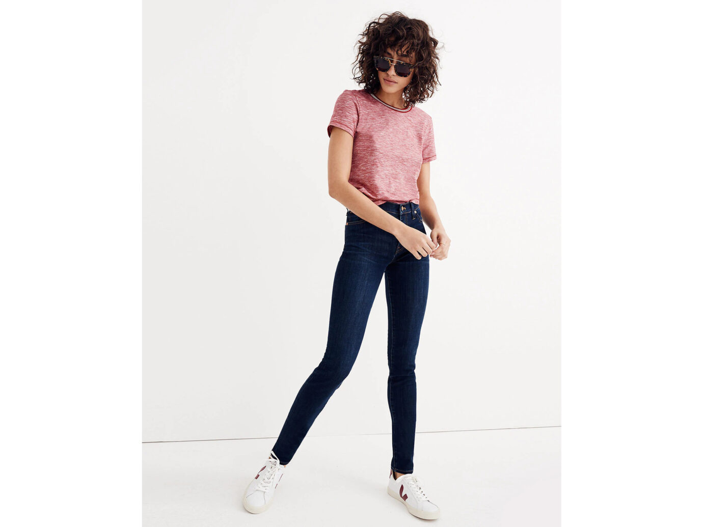 Madewell 9-Inch Mid-Rise Skinny Jeans in Larkspur Wash: TENCEL™ Denim Edition