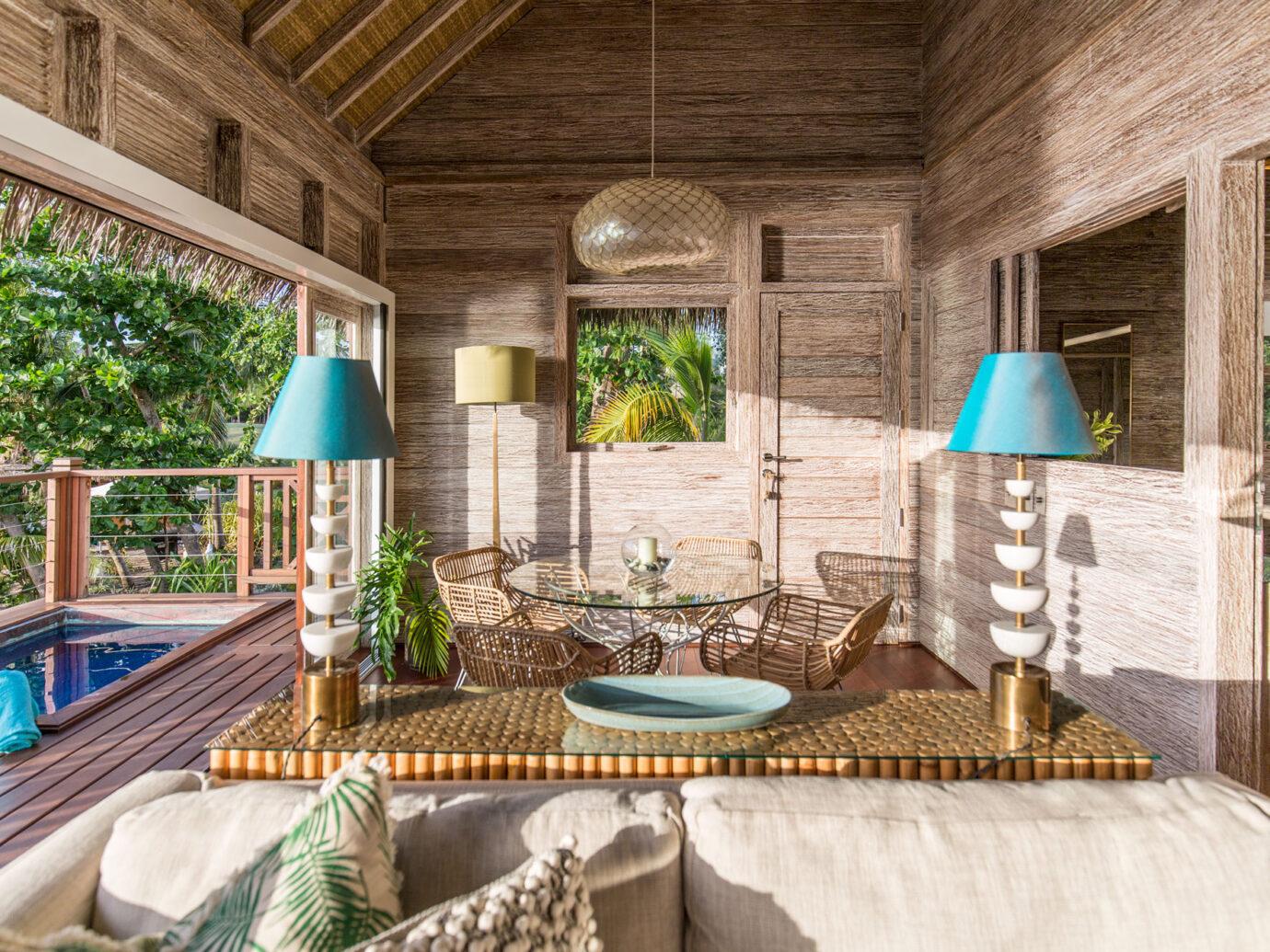 Interior of Paradise Beach Nevis