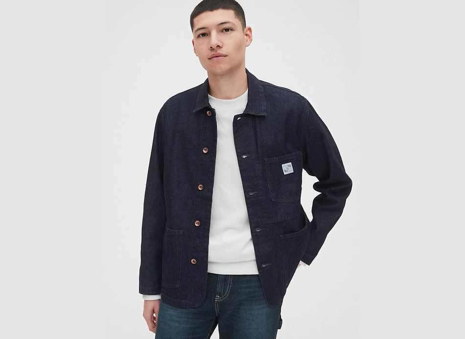 Men's Denim Chore Jacket