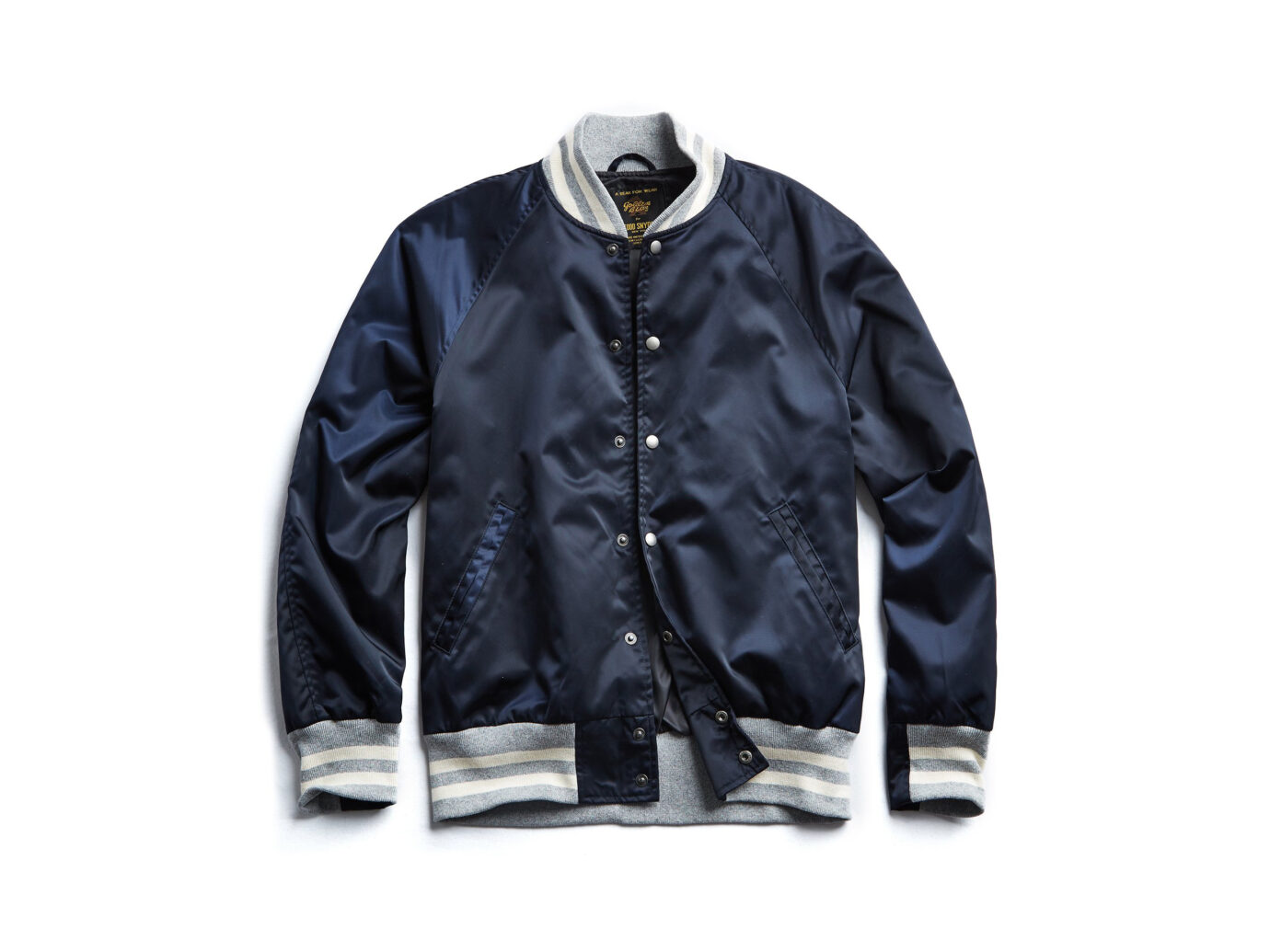 Todd Snyder + Golden Bear Japanese Nylon Snap Bomber Jacket