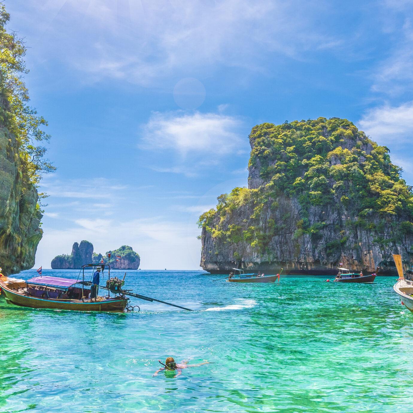 View of Loh Samah Bay, Phi Phi island, Thailand