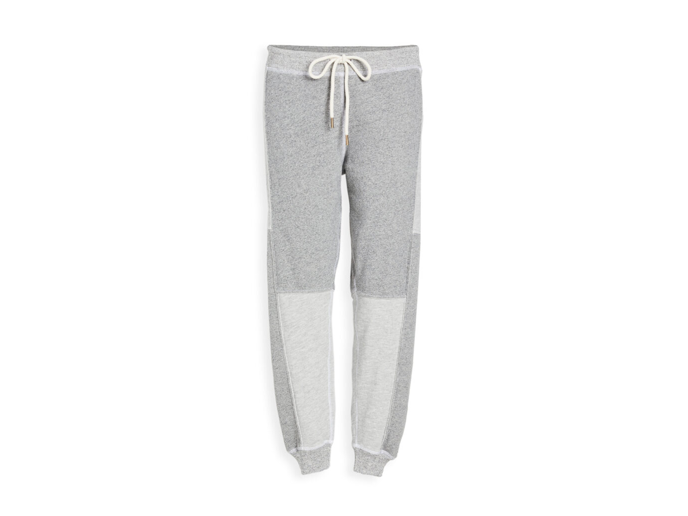 THE GREAT. Patchwork Cropped Sweatpants